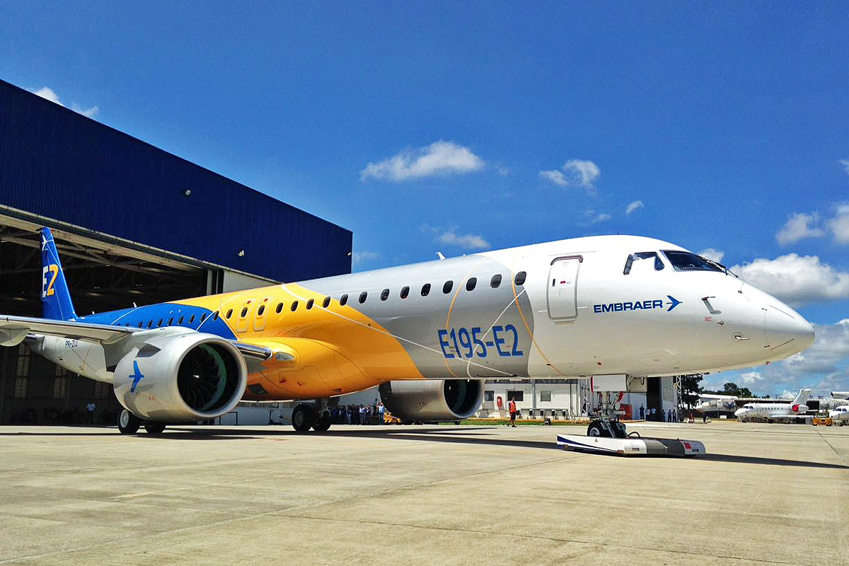 Embraer Rolls Out E195 E2 Its Largest Commercial Jet